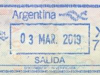 2019 03 03 Argentinien - Ausreise