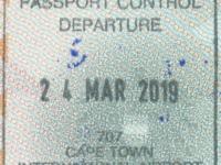 2019 03 24 Südafrika Kapstadt - Ausreise
