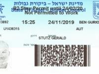 2019 11 24 Israel Tel Aviv - Einreise