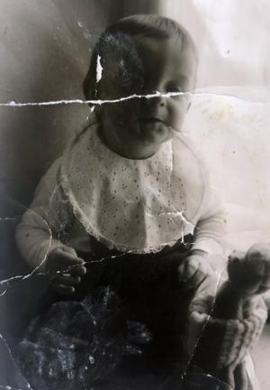 1965 mit Teddybär
