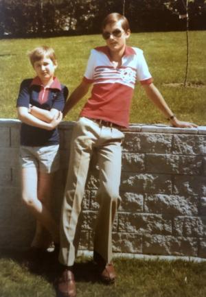 1977 mit Bruder Roland in Lohnsburg