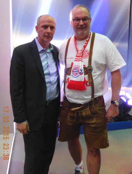 2015 02 17 Mario Basler Ex-FCBayern Fussballprofi bei Puls 4 in Wien anl. CL-Spiel Donezk : FC Bayern 0:0