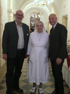 2016 11 20 Schwester Bernadette Schwarz im Österr Hospitz in Jerusalem anl Friedenslichtreise