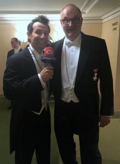 2017 02 23 Walek Tom Moderator und Ö3_Mikromann beim Wiener Opernball
