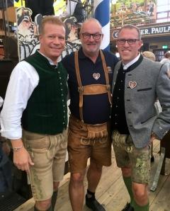2017 10 02 Steinfatt Andreas links Paulaner München Geschäftsführer Gastronomie Bayern auf der Wiesn