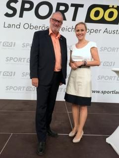 2018 06 15 Alina Zellhofer ORF Moderatorin bei der Eröffnung Olympiazentrum OÖ Linz