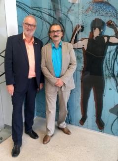 2018 06 15 Hebenstreit Manfred Maler und Grafiker bei der Eröffnung Olympiazentrum OÖ Linz