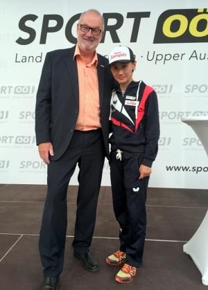 2018 06 15 Liu Jia Tischtennisspielerin bei der Eröffnung Olympiazentrum OÖ Linz
