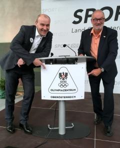 2018 06 15 Marckhgott Bernhard Dr RLB OÖ bei der Eröffnung Olympiazentrum OÖ Linz