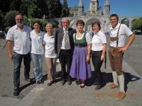 2012 07 18 Goldhaubenreise Lourdes RW-Team mit LO Pühringer