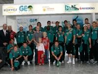 2005 08 24 Reisewelt Abfertigung Flughafen FC Pasching nach St. Petersburg