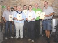 2012 09 07 40 Jahre Spielmann -Zusammen 200 Jahre SZ-Gruppenfoto der Geehrten
