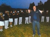 2014 06 21 Sonnwendfeier Bläsergruppe dirigieren