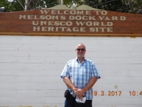 Antigua und Barbuda Marinewerft Nelsons Dockyard Tafel