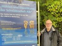 Deutschland Höhlen im Jura Hohler Fels Tafel