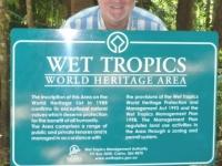 Australien Nationalpark Wet Tropics Tafel