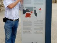 Bahrain Archäologische Stätte Qal at al Bahrain Tafel