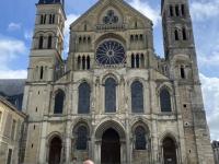 Frankreich Reims Kathedrale Notre Dame Palais du Tau und Kloster Saint Remi 3