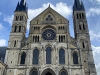 Frankreich Reims Kathedrale Notre Dame Palais du Tau und Kloster Saint Remi Kopfbild 3