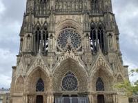 Frankreich Reims Kathedrale Notre Dame Palais du Tau und Kloster Saint Remi