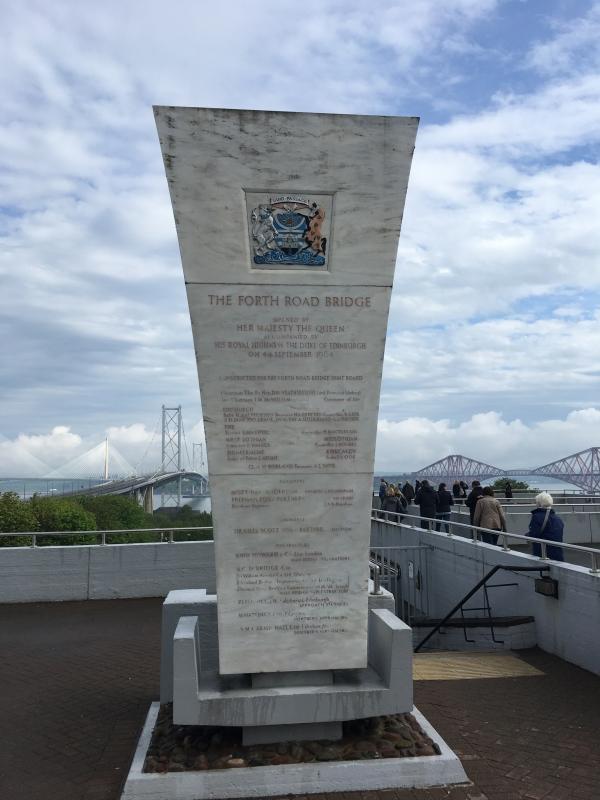Grossbritanien Forth Bridge Tafel
