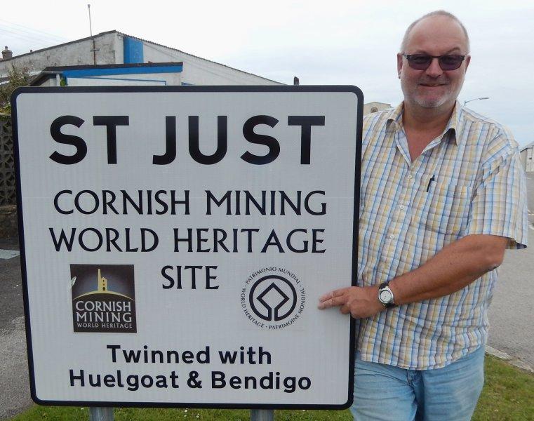 Grossbritannien Bergbau Landschaft von Cornwall Tafel