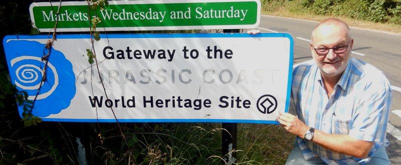 Grossbritannien Küste von Dorset und Ost Devon Tafel