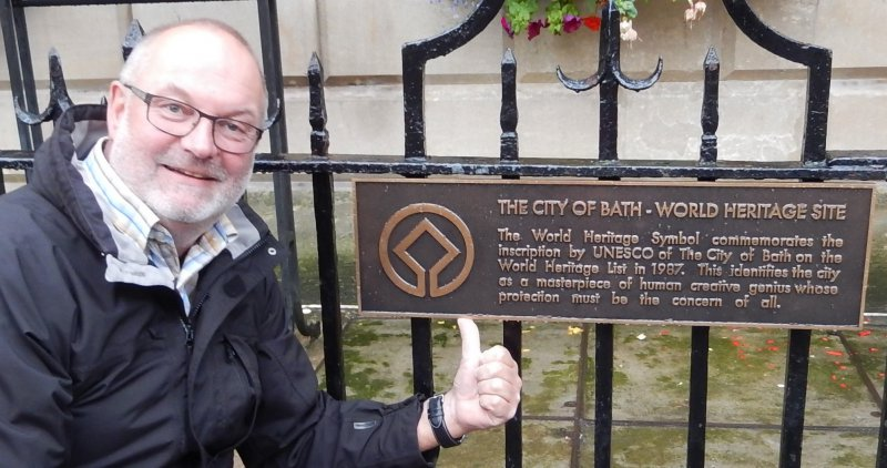 Grossbritannien Stadt Bath Tafel