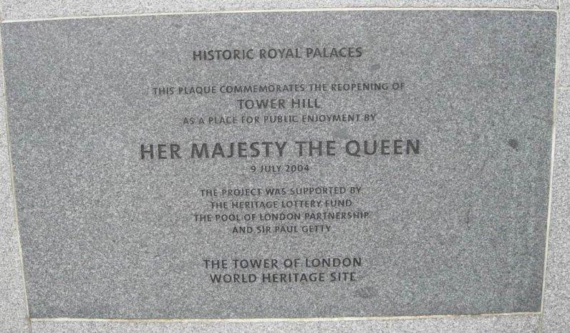 Grossbritannien-tower-of-london-tafel