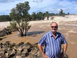 2017 11 10 Laos Mekongfälle Khon Phapheng breiteste Wasserfälle der Welt