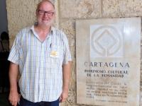 Kolumbien Hafen Befestigungen in CartagenaTafel