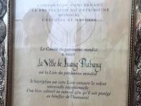 Laos Luang Prabang Königspalast Urkunde