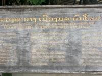 Laos Luang Prabang Wat Xiengthong Tafel