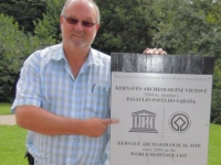 Litauen-archäologische-stätte-kernave-tafel