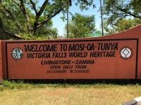 Sambia Victoria Fälle Tafel