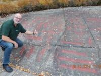 Schweden Felszeichnungen Tanum in Fossum