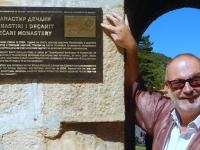 Serbien Mittelalterliche Denkmäler im Kosovo Kloster Decani Tafel