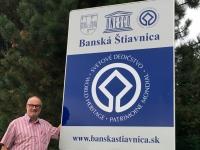 Slowakei Banska Stiavnica Bergbaustadt Tafel