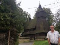 Slowakei Hervartov Holzkirchen in den Karpaten