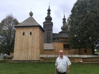 Slowakei Ladomirova Holzkirchen in den Karpaten
