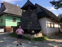 Slowakei Vikolinec Bauerndorf Turm