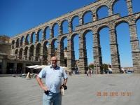 Spanien Altstadt von Segovia mit Aquaedukt