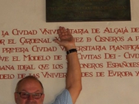 Spanien Universität und historisches Zentrum von Alcalá de Henares Tafel