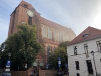 Polen Altstadt von Torun  Dom St Johannes Kopfbild