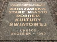 Polen Altstadt von Warschau Tafel 1