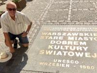 Polen Altstadt von Warschau Tafel