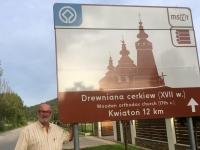 Polen Kwiaton Holzkirchen in den Nordkapaten Tafel