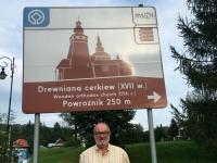 Polen Powroznik Holzkirchen in den Nordkapaten Tafel