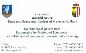 Gemeinde Kallham Visitenkarte Nr 1 englisch