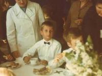 1971 Erstkommunion mit Mutter